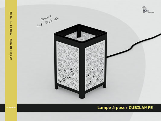 Lampe à poser design Cubilampe impression 3D motif 04
