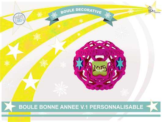 Boule décorative de l'an  V.1 2018 01