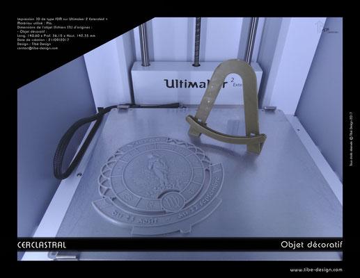 Objet déco design Print 3D Cerclastral Vierge 3