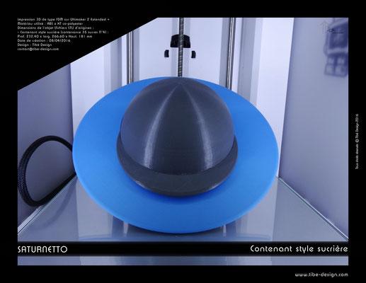 Contenant sucrière design Saturnetto print 3D 2
