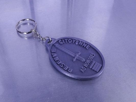 Porte-clé Réserve Citoyenne 01