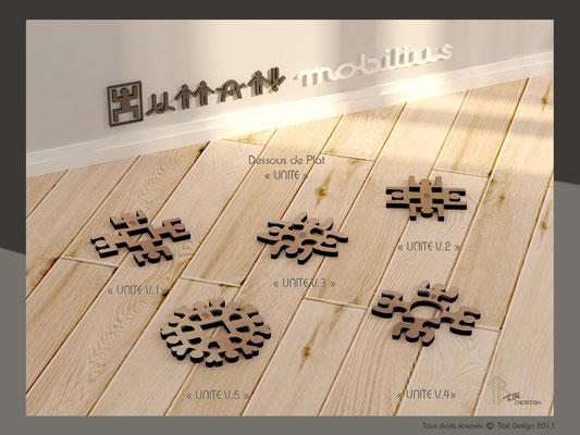 Dessous de plat Unité Human Mobilius design mdf vernis incolore groupe
