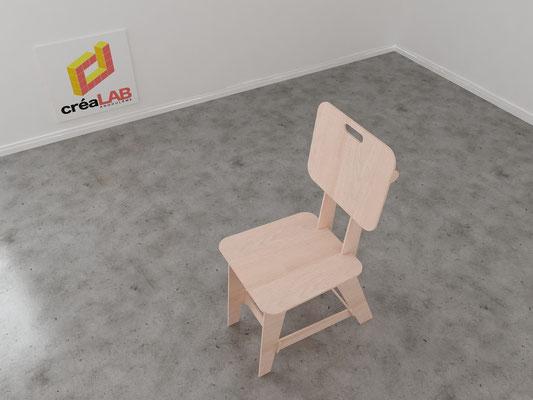 Assise ou chaise pour le créalab intérieur 6