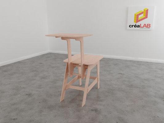 Assise ou chaise pour le créalab intérieur 3