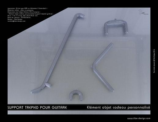 Objet cadeau personnalisé  support guitare acoustique print 3D 1
