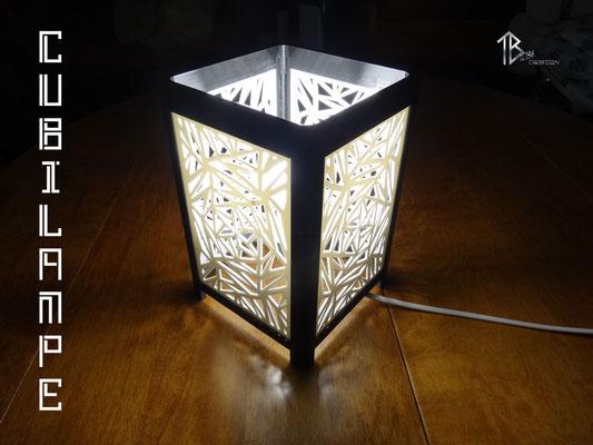 Lampe à poser design Cubilampe impression 3D éclairage 01