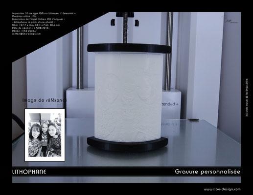 Objet cadeau design Lithophane print 3D 4