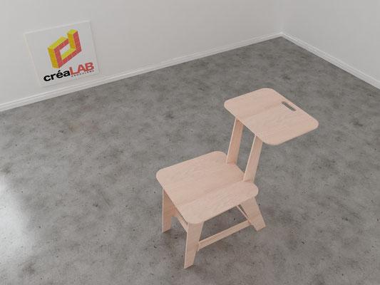 Assise ou chaise pour le créalab intérieur 7