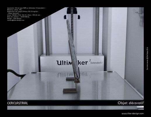 Objet déco design Print 3D Cerclastral Cancer 3
