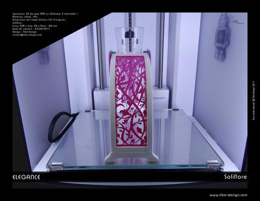Soliflore Elégance impression 3D 3