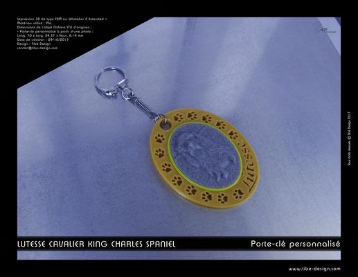 Porte-clé personnalisé Lutesse 01