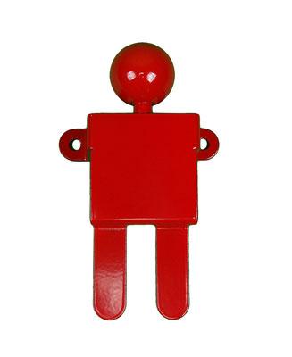 Patère ou portant design Adhésion Human Mobilius  rouge 2