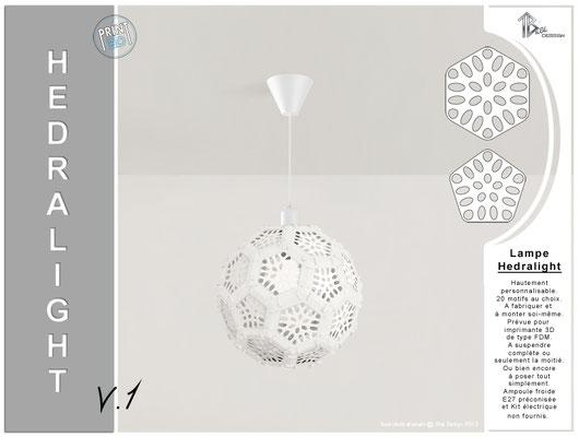 Luminaire Hedralight lustre modele V.1 blanc 01