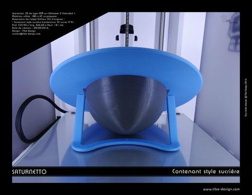 Contenant sucrière design Saturnetto print 3D 4