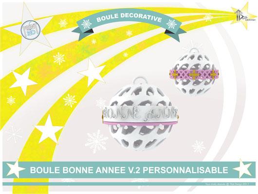 Boule décorative de l'an personnalisable V.2 01