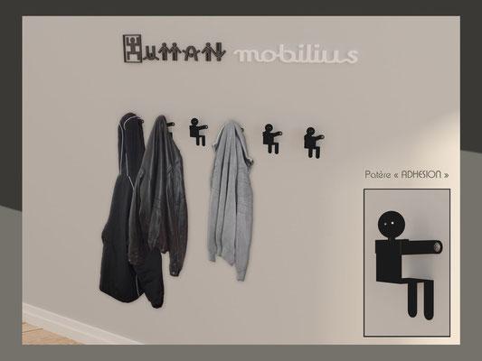 Patère ou portant design Adhésion Human Mobilius intérieur
