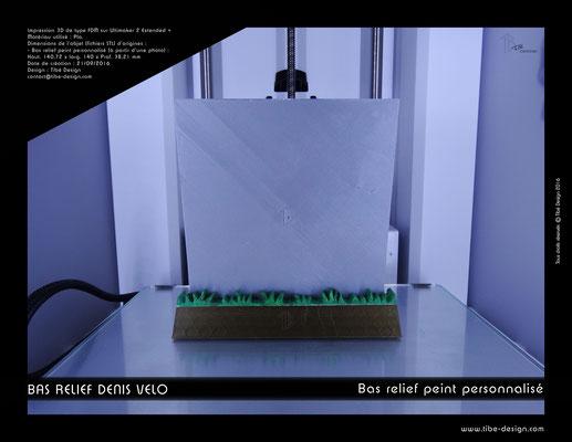 Objet cadeau print 3D style bas relief peint à la main 02
