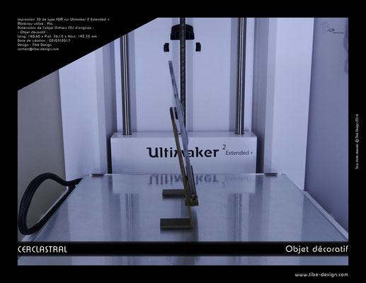 Objet déco design Print 3D Cerclastral Poisson 3