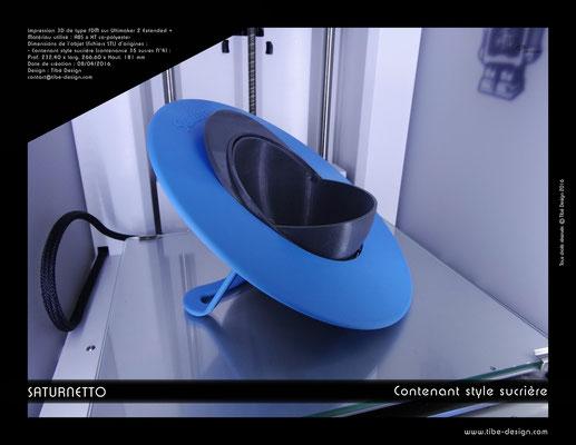 Contenant sucrière design Saturnetto print 3D 1