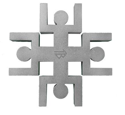 Dessous de plat Unité Human Mobilius design gris béton V2