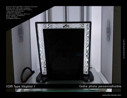 Cadre photo COM type végétal design 2