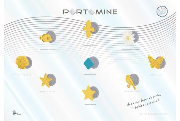 Patère Portomine modèles print 3D