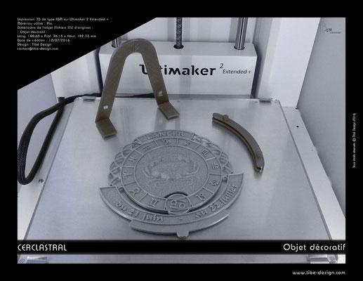 Objet déco design Print 3D Cerclastral Cancer 4