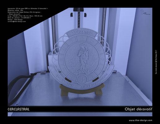 Objet déco design Print 3D Cerclastral Vierge 2