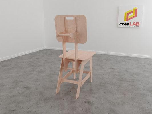 Assise ou chaise pour le créalab intérieur 2