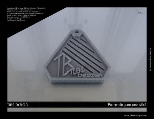 Porte-clé personnalisé Tibé Design 2