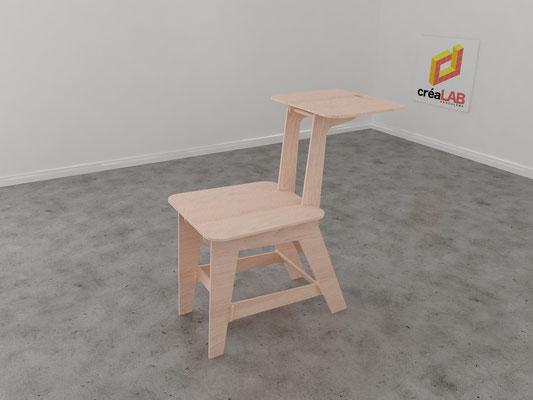 Assise ou chaise pour le créalab intérieur 1