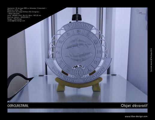 Objet déco design Print 3D Cerclastral Poisson 2