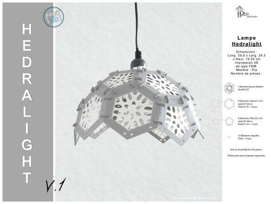 Luminaire Hedralight lustre abat-jour 01