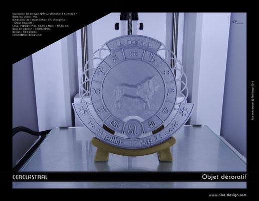 Objet déco design Print 3D Cerclastral Lion 1