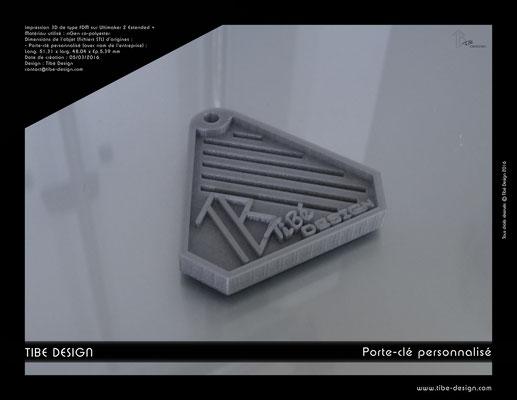 Porte-clé personnalisé Tibé Design 1