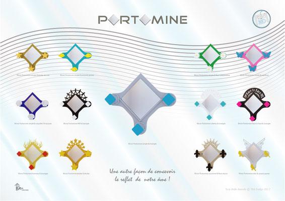 Miroir & patères Portomine print 3D modèles