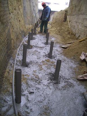 Consolidamento pareti - Iniezione micropali e tiranti - Piemonte CN