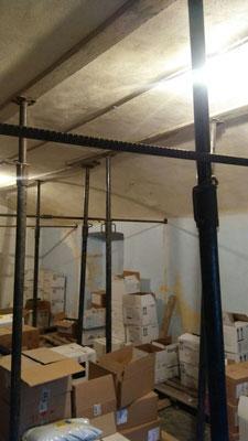 Realizzazione catene in barra Dywidag per evitare spanciamento di volta ad arco - Piemonte CN