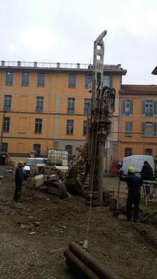Realizzazione di micropali per berlinese a sostegno di fronte di scavo - Piemonte - Provincia di Cuneo