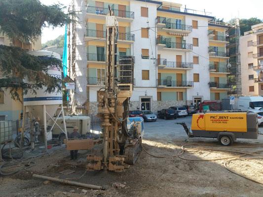 Realizzazione micropali per permettere costruzione nuovo canale di scolo acque