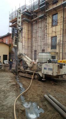 Realizzazione di micropali per berlinese a sostegno di fronte di scavo - Piemonte - CN