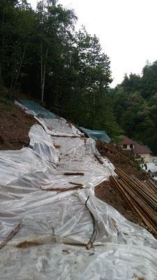 Realizzazione paratia su versante in frana - Piemonte CN