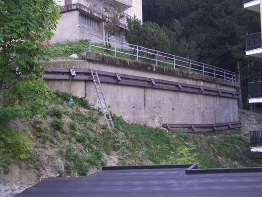 Cinturazione muri - Installazione putrelle e piastre - Piemonte CN