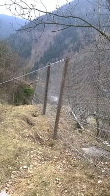 BARRIERE PARAMASSI PROVVISIONALI - Messa in sicurezza scarpata - Piemonte - Provincia di Cuneo