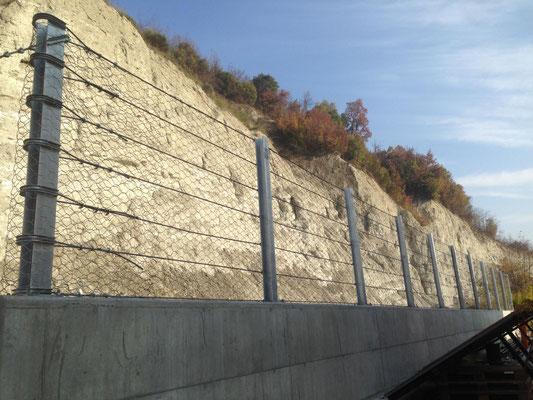 Installazione di barriera paramassi statica - Piemonte - CN
