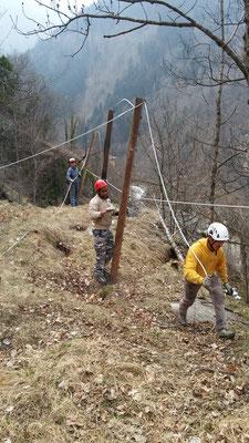 BARRIERE PARAMASSI PROVVISIONALI - Messa in sicurezza scarpata - Piemonte - CN