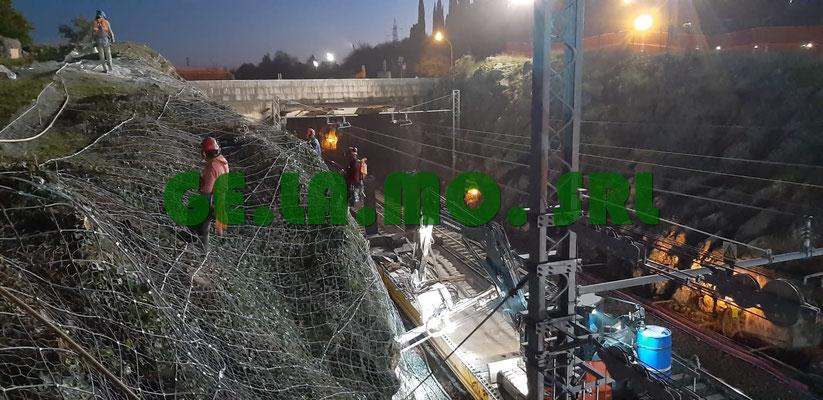 Consolidamenti pareti linee ferroviarie con reti e pannelli h24