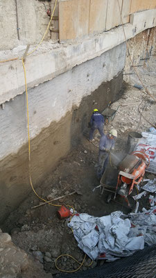 Realizzazione berlinese tirantata con copertura spritz beton - Piemonte -  Provincia di Cuneo