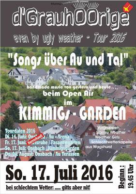 Plakat Songst über Au und Tal