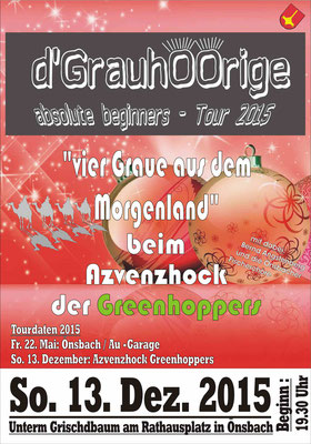 Plakat Advenzhock Greenhoppers